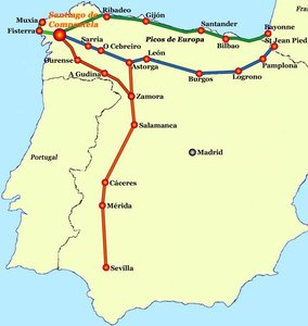 Karta Pa Spansk.Pilgrimsinfo Se